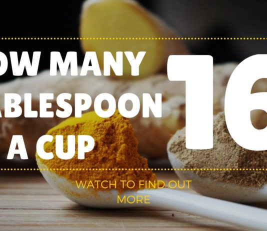how many tablespoons in a cup chart